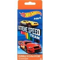 Фото Карандаши Kite Hot Wheels 12 цветов HW17-053