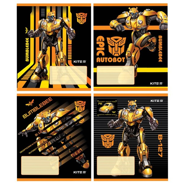 Тетрадь школьная Kite Transformers BumbleBee 12 л TF19-234